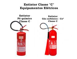 Extintor de incêndio para equipamentos elétricos
