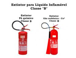 Extintor de incêndio usado