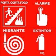 Sinalização de emergência contra incêndio