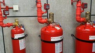 Sistema contra incêndio novec