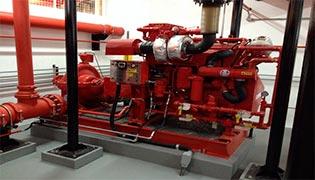 Sistema de combate à incêndio water mist