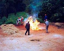 Centro de treinamento para incêndio florestal