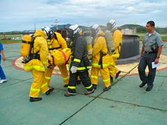 Curso de combate a incêndio avançado