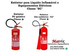 Extintor de incêndio classe BC
