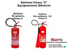 Extintor de incêndio para materiais elétricos