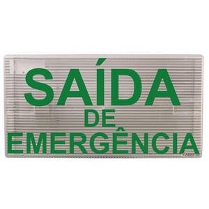 Luminária autônoma - saída de emergência