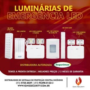Luminária de emergência 60 leds