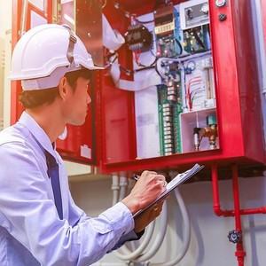Manutenção de sistema contra incêndio Siemens