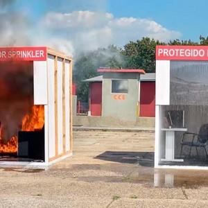 Sistema de combate a incêndio por gás
