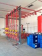 Sistema de combate a incêndio por espuma