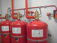 Sistema de combate a incêndio fm200